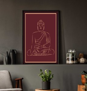 Quadro Buda com moldura e Vidro