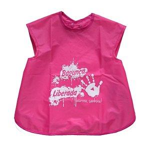 Avental Impermeável Bagunça - Pink