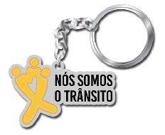 CHAVEIRO DE METAL ***Nós Somos o Trânsito*** Movimento 2018