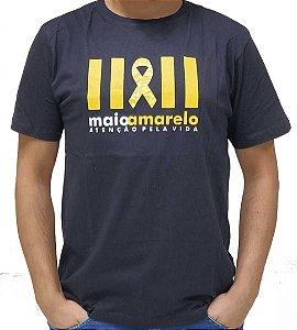 Camiseta Preta Maio Amarelo - Atenção Pela Vida
