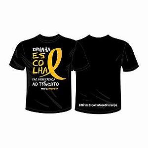 Camiseta Preta - Minha Escolha Faz a Diferença