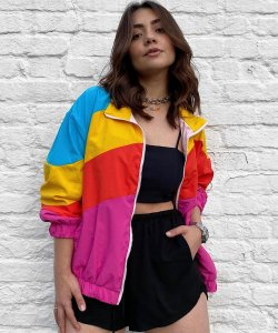 90's Colors Windbreaker