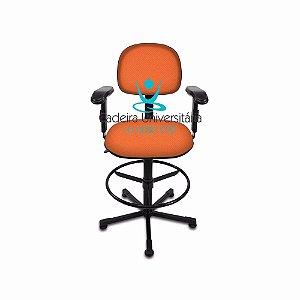Cadeira Operadora de Caixa Giratória com Braço Regulável a Gás Injetada