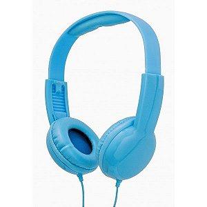 Fone de ouvido tipo headphone com limitador de volume infantil azul - V12009 - Vivitar
