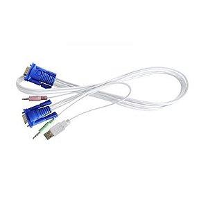 Cabo 4 em 1 para chaveador KVM CPU Switch USB 5,0m - Gts Network