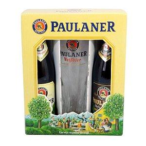 Kit Cerveja Paulaner com 2 Garrafas de 500ml e 1 Copo Paulaner de 500ml (Alemanha)