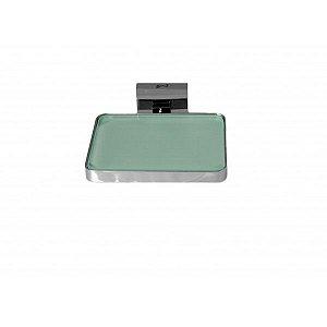 Saboneteira de Latão com Vidro Quadrado TM176801 - Trend Metais