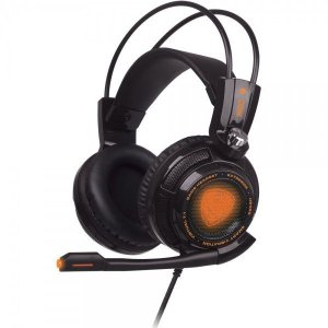 Headset Extremor Preto, Som 7.1 Virtual Surround, Smart Vibration HS400 - OEX