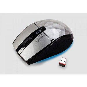 Mouse Sem Fio NewLink Diamond Prata MO-109