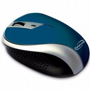 Mouse Sem Fio NewLink Wave Azul MO113