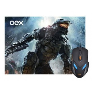 Combo Gamer OEX Mouse Luminoso 07 Cores 2400DPI + Mousepad Antiskid - MC100