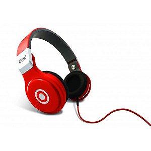Headphone OEX Multimídia Stéreo HP-102 com Microfone Vermelho