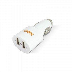 Mini Carregador USB OEX para Carro CG-100