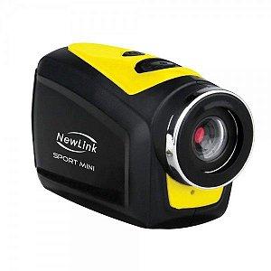 Filmadora Sport Mini NewLink FS202, Visor digital preto/ branco, USB, AV