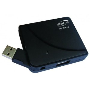 Mini Hub USB 2.0 Newlink HB201