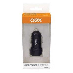 Carregador Veicular Oex c/ Porta USB Preto 2 saídas 3.1A (2.1A + 1A) CG-100