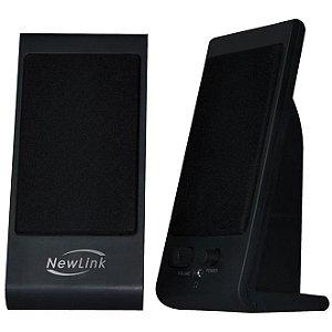 Caixa de Som para Pc 4W Rms Slim Preta Sp203 Newlink