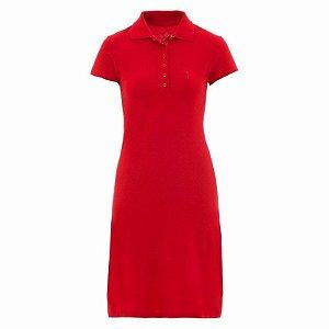 Vestido Polo Aleatory Liso Vermelho