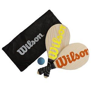 Kit Frescobol Wilson 2 Raquetes + 1 Bola Original- LRVD
