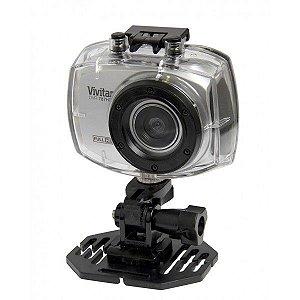 Câmera filmadora de ação Full HD com caixa estanque e acessórios prata - DVR787HD - Vivitar