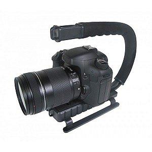 Grip e estabilizador de mão p/ câmera DSLR preta VIVVPT200 - Vivitar