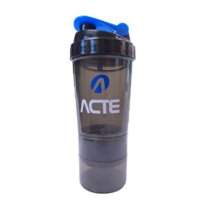 Coqueteleira 3 em 1 Azul 500ml Acte Sports C21