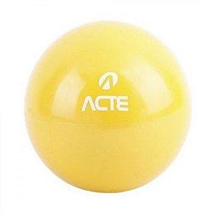 Par de Bolas Tonificadoras Acte Sports com Peso de 2Kg e 14,5cm de Diâmetro cada Amarela T56