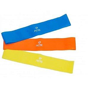 Faixa Elástica Acte Sports Kit Com 3 Unidades T71