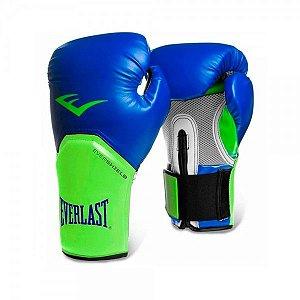 Luva de Boxe Everlast Pro Style 12Oz azul/verde