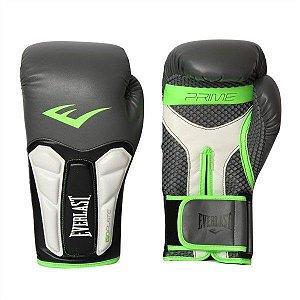 Luva Boxe Everlast Elite Prime Preta com Verde 16Oz