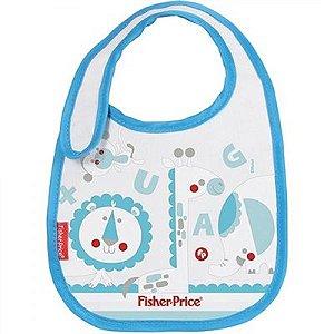 Babador com Velcro Leão Azul - Fisher Price - 01127