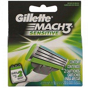 Carga/Refil para Aparelho de Barbear Gillette Sensitive Mach3 com 2 unidades
