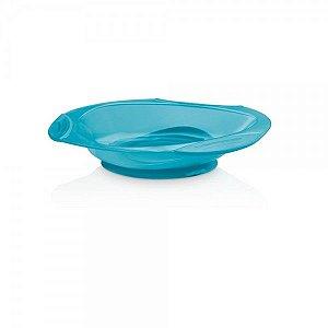 Prato Raso com Ventosa Funny Meal Azul BB049 - Multikids