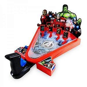 Jogo Pinball Tiro Ao Alvo - Marvel Avengers - 026014 - Toyng