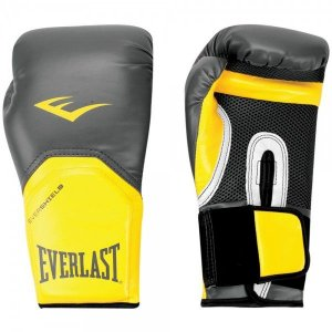 Luva Boxe Everlast Pro Style Elite Training 16 OZ - 1200861 Preto/Amarelo