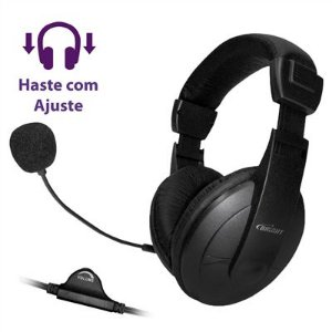 Microfone Headphone Headset Office Preto 01409 - Bright