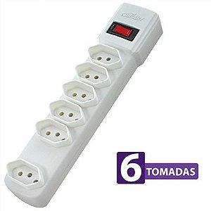 Protetor Eletrônico 6 Tomadas 06721 Branco - Bright