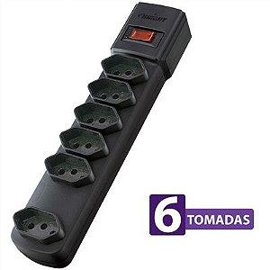 Protetor Eletrônico 6 Tomadas 06722 Preto - Bright
