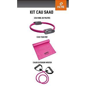 Kit Cau Saad: Anel de Pilates + Yoga Mat + Extensor Master - Acte Sports