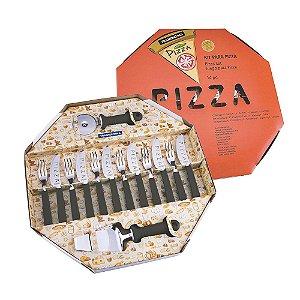 Kit para Pizza 14 peças Preto - Tramontina