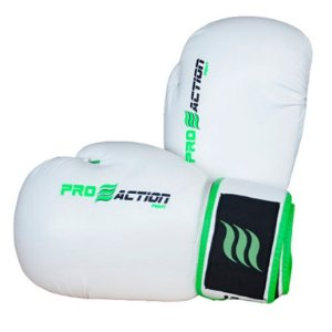 Luva de Boxe e Muai Thai Profissional Branca 14oz F014 - ProAction