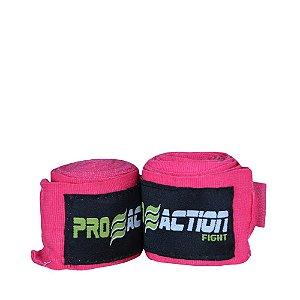 Bandagem Elástica com Poliéster Pink Par 3m F518 - ProAction