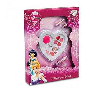 Caixa De Maquiagem Coração Princesas - Beauty Brinq