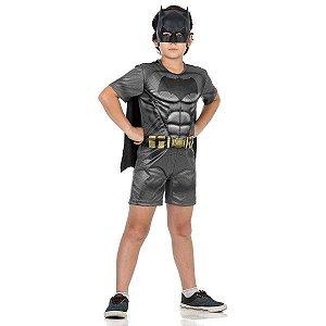 Fantasia Batman Pop com Musculatura - Batman x Super Homem Tamanho M - Sulamericana
