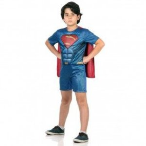 Fantasia Super Homem Pop com Musculatura - Batman x Super Homem Tamanho P - Sulamericana