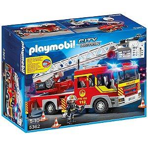 Playmobil - Unidade de Bombeiro com Escada e Equipamentos - Sunny Brinquedos