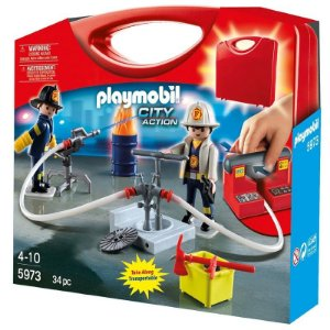 Playmobil 1, 2, 3 Maleta Estação Bombeiros - Sunny