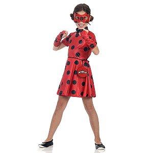 Fantasia Ladybug Vestido Luxo - Sulamericana