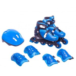 Kit Roller Infatil Completo Azul P (28 - 31) - Bel Sports