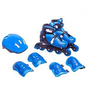 Kit Roller Infatil Completo Azul P (28 - 31) - Bel Sports